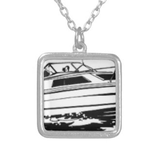 Speed Boat Cruiser Silver Plated Necklace