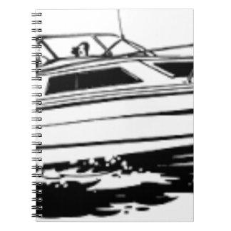 Speed Boat Cruiser Spiral Notebook