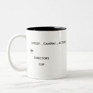 SPEED!.., CAMERA!...ACTON!.. Two-Tone COFFEE MUG
