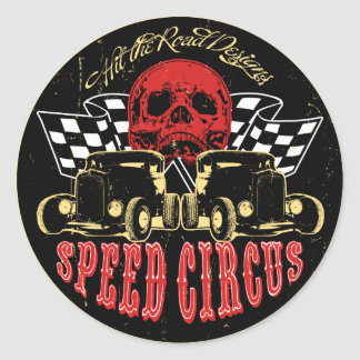 Speed Circus Round Sticker