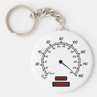 Speed Demon Basic Round Button Keychain