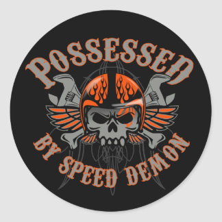 Speed Demon Toolbox Classic Round Sticker