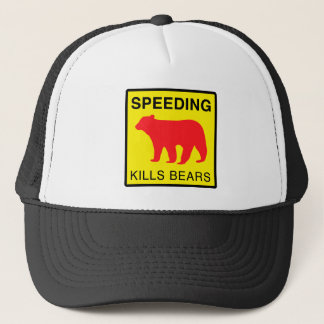 SPEED KILLS BEARS.ai Trucker Hat