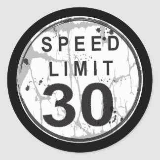 Speed Limit 30 MPH Grungy Sticker