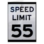 Speed Limit 55  Card