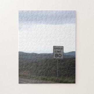 Speed Limit 80 Jigsaw Puzzle