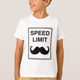 Speed Limit Mustachio Sign T-Shirt