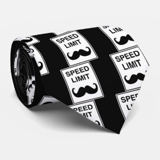 Speed Limit Mustachio Sign Tie