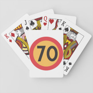 Speed Limit Seventy Playing Cards