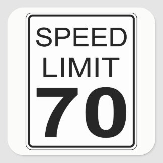 Speed Limit Square Sticker