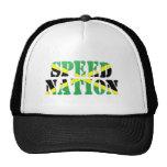Speed Nation Jamaican Flag Trucker Hat
