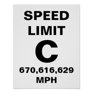 Speed of Light Poster