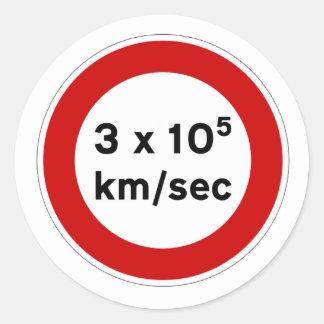 Speed of Light Sign Sticker