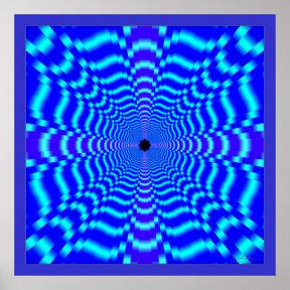 Speed Optical Illusion Poster