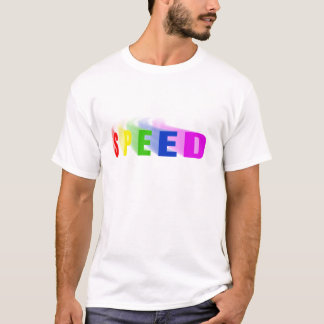 Speed Rainbow Text Motion Trail Car Bike Bicycle T-Shirt