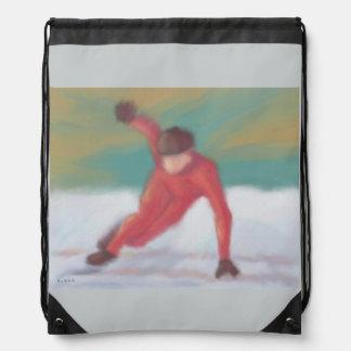 Speed Skate Drawstring Backpack