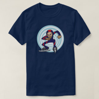 Speed Skater Anime Style Illustration Winter Games T-Shirt