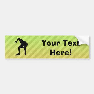 Speed Skater Bumper Sticker