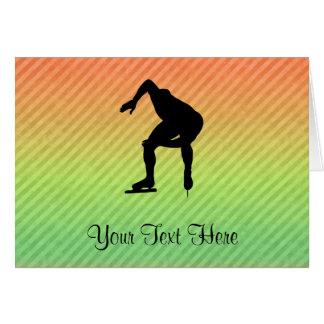 Speed Skater Greeting Card