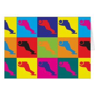 Speed Skating Pop Art Card