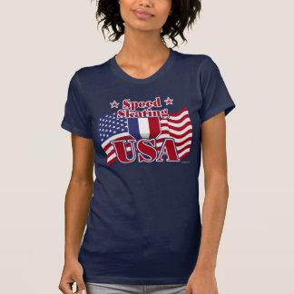Speed Skating USA T-Shirt