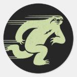 Speed Sloth Round Sticker