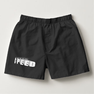 Speed Text With Motion Trail Car Bike Bicycle Cool Boxers