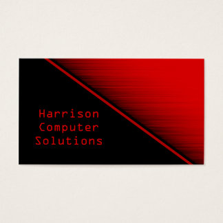 Speed Texture Business Card, Red Business Card