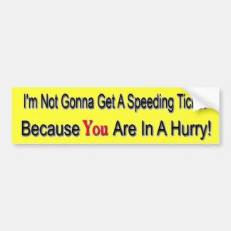 Speeder Bumper Sticker
