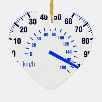 Speeding Ceramic Ornament