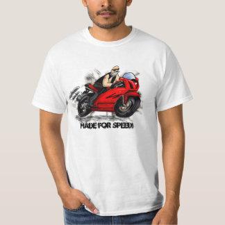 speeding old man biker w/ tat, funny sportbike art T-Shirt