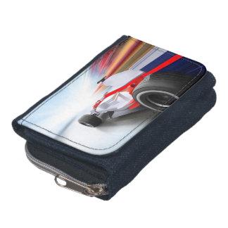 Speeding Red Race Car Wallet