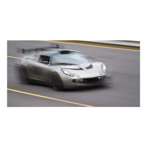 Speeding Sports Car Picture Card