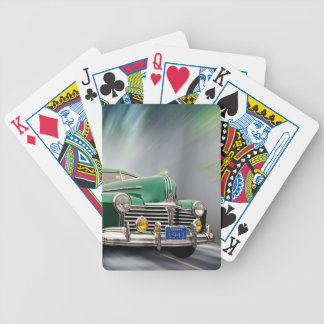 SPEEDING VINTAGE CAR BICYCLE PLAYING CARDS