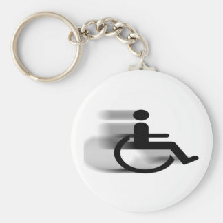Speeding Wheelchair Keychain