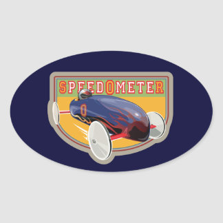 Speedometer Coaster Car Oval Sticker