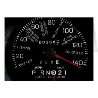 Speedometer Father's Day Greeting Card