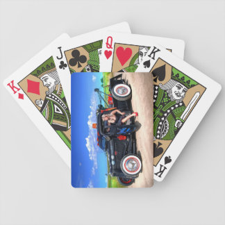 Speeds Towing Rat Rod Truck Pin Up Girl Bicycle Playing Cards