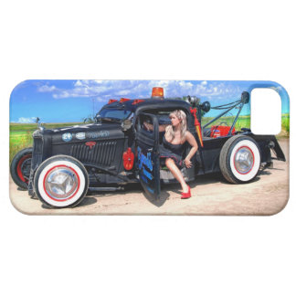 Speeds Towing Rat Rod Truck Pin Up Girl Case For The iPhone 5