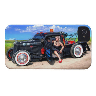 Speeds Towing Rat Rod Truck Pin Up Girl iPhone 4 Cases