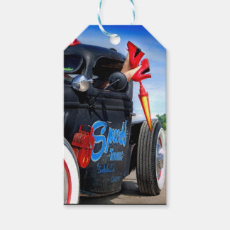 Speeds Towing Rat Rod Truck Rockabilly Betty Gift Tags