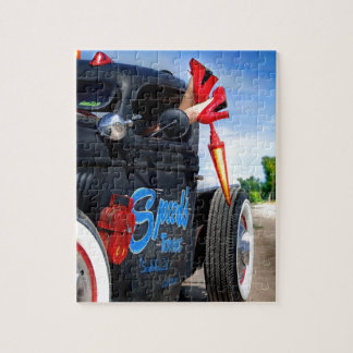 Speeds Towing Rat Rod Truck Rockabilly Betty Jigsaw Puzzle