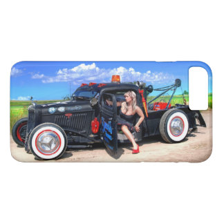 Speeds Towing Rat Rod Truck Rockabilly Betty Pinup iPhone 8 Plus/7 Plus Case