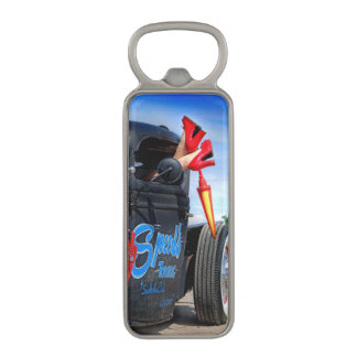 Speeds Towing Rat Rod Truck Rockabilly Betty Pinup Magnetic Bottle Opener