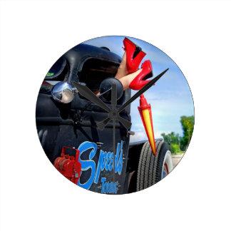 Speeds Towing Rat Rod Truck Rockabilly Betty Round Clock