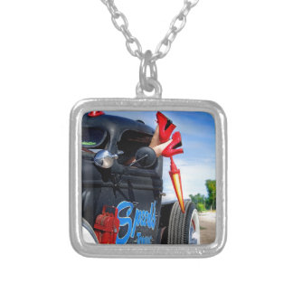 Speeds Towing Rat Rod Truck Rockabilly Betty Silver Plated Necklace