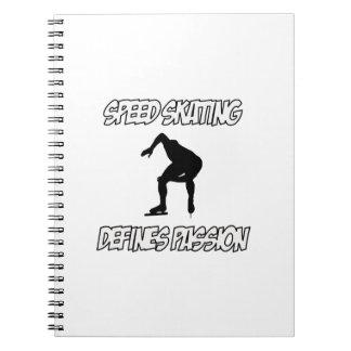 SPEEDSKATING designs Spiral Notebook