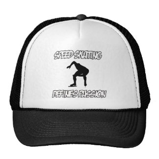 SPEEDSKATING designs Trucker Hat