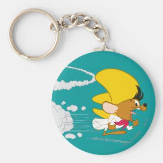 Speedy Gonzales Running in Color Basic Round Button Keychain