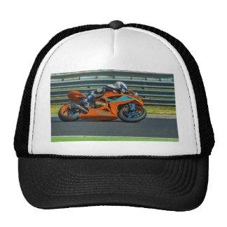 Speedy Orange Motor Racing Trucker Hat